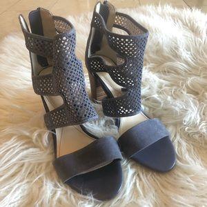 Isola Blue Suede Strappy Heel Sandals